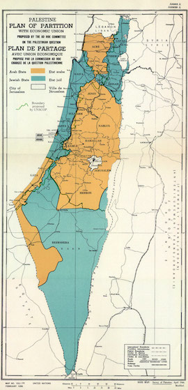 How did israel become a country in the first place everything you unpalestinepartitionversions1947resized gumiabroncs