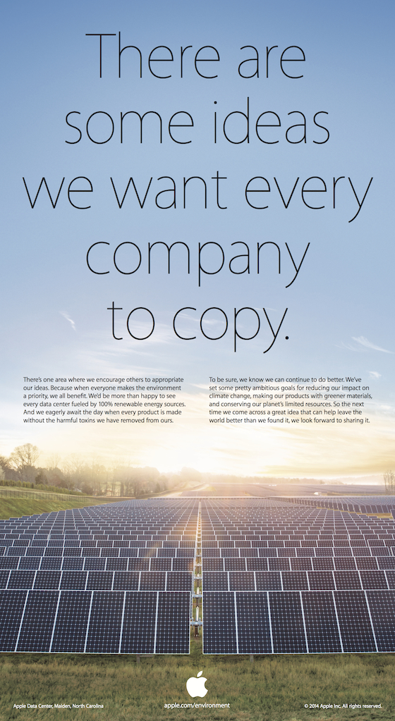 Apple taunts Samsung to 'copy' its environmental record ...