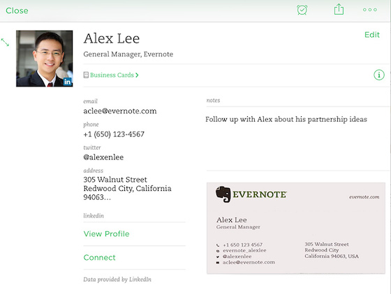 Evernote builds corporate muscle with linkedin deal to scan business ios cardscan contact note colourmoves