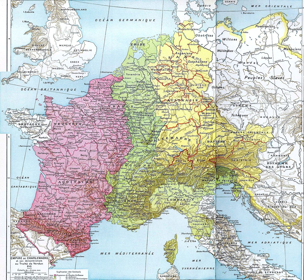 38 maps that explain europe vox the partition of charlesmagnes empire gumiabroncs Image collections