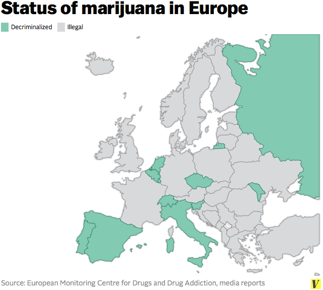 Maps And Charts That Explain Marijuana Vox - Us map on weed laws