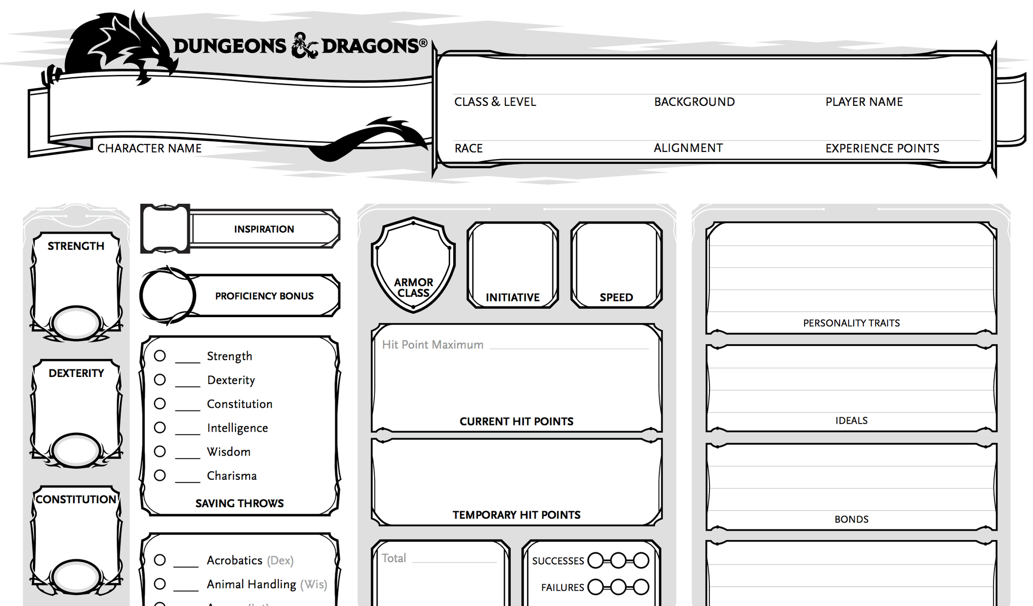Here s how Dunge...D D 5e Character Sheet
