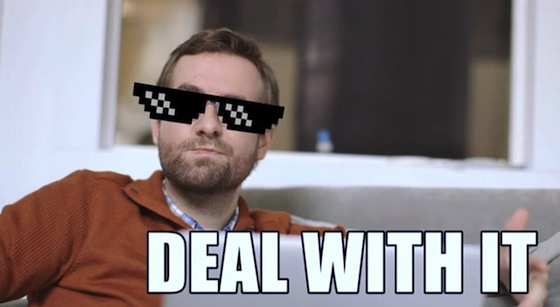 Deal With It Meme Sunglasses Pixelated sunglasses are here, so deal