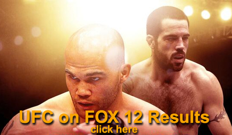UFC on FOX 12 Results