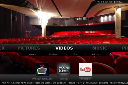 XBMC 11.0 screenshot