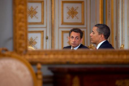 Nicholas Sarkozy White House Press Photo