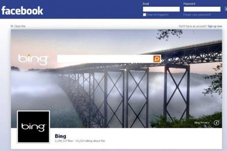 Facebook logout page ad bing
