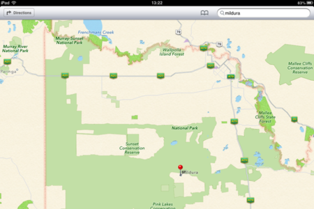 mildura apple maps