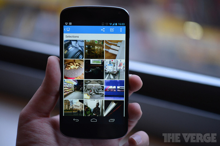 Dropbox albums beta android (stock)