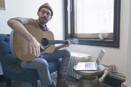 ben plays guitar