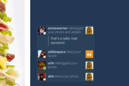 Tumblr notification ticker