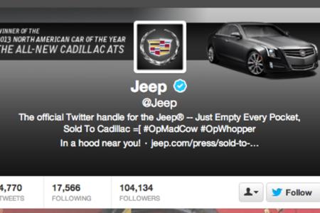 Jeep Twitter hack