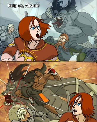Alistair_vs_the_ogre_alpha_by_phitus-d3jbgua