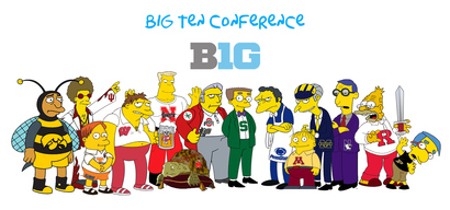 Simpsons-college-drawings-big-ten-conference-2013