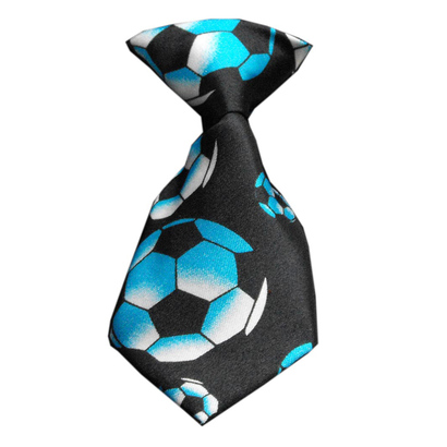 Soccer-dog-neck-tie-blue-1