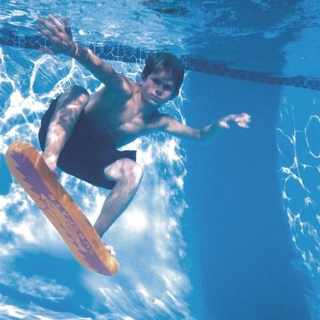 Boy riding the SubSkate underwater