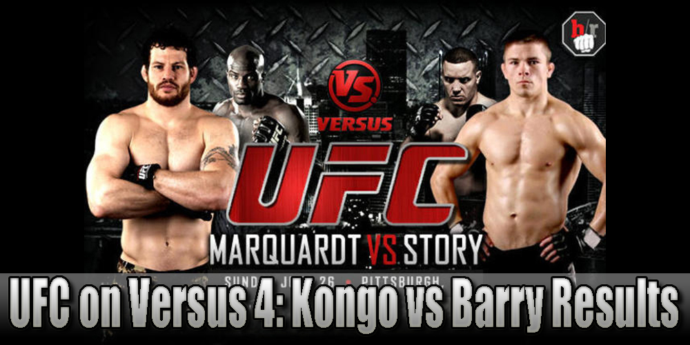 UFC on Versus 4 results and LI...