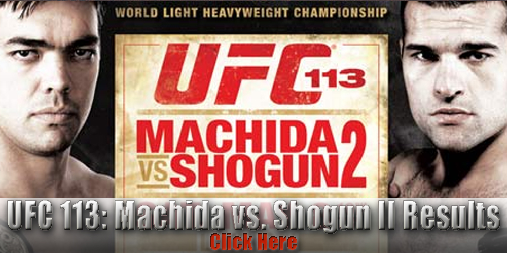 UFC 113 results and LIVE fight...