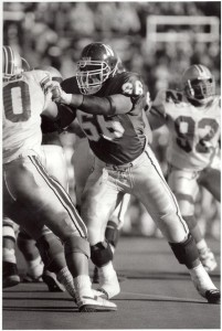 Tobin Buckner plays against Ohio State in 1989, two years before the Modell Bowl.