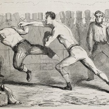 15346947-antique-humorous-illustration-of-a-straight-right-paunch-during-a-boxing-match-original-by-benassis-