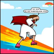 Jesus_rollerblading_christ
