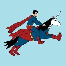 Superman-riding-super-unicorn