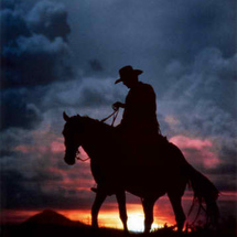 Cowboy-and-sunset