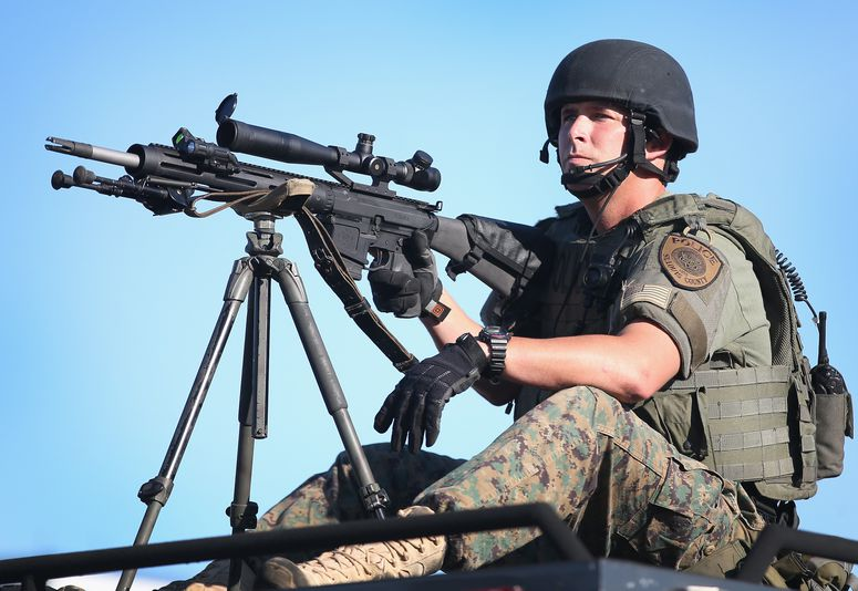 A Ferguson sniper, doing his job.