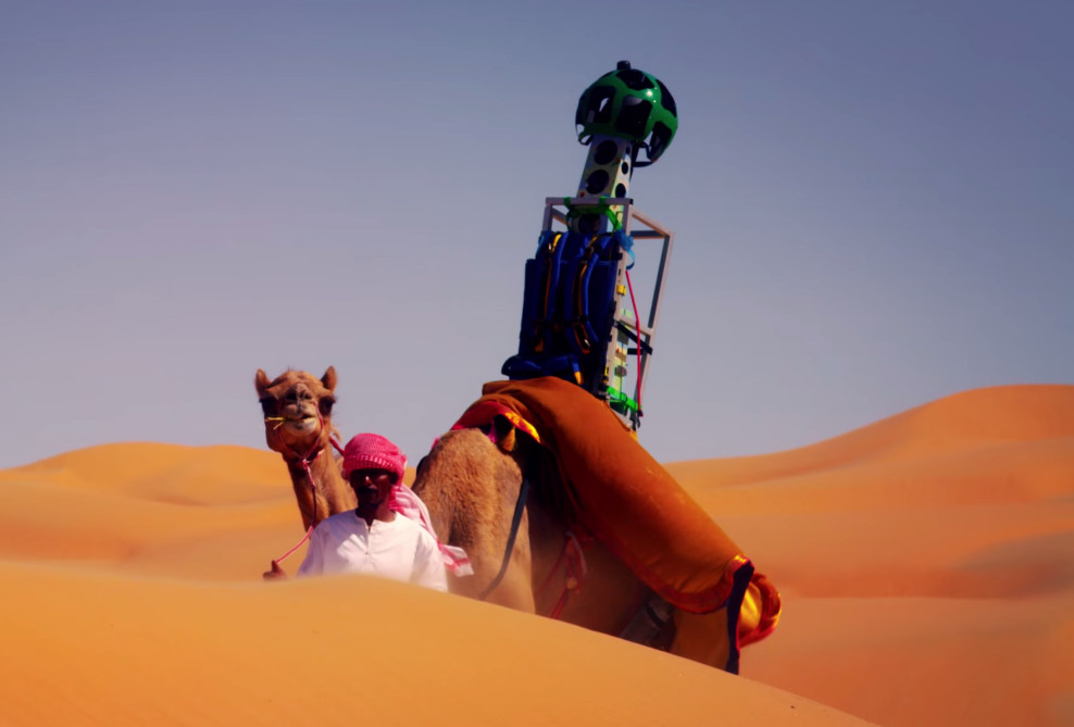 Google put its Street View camera on a camel's back to ...