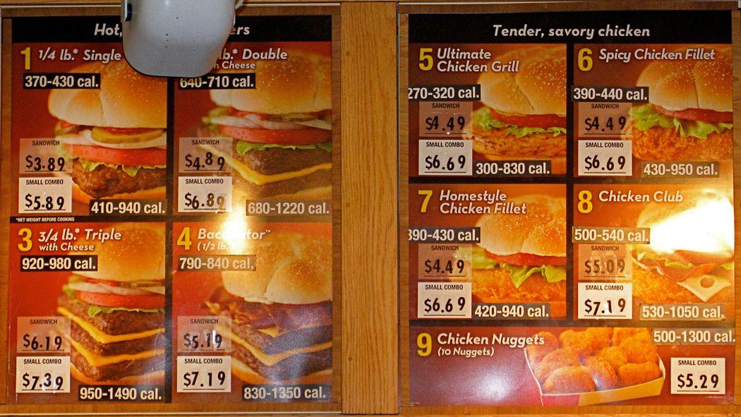 List Of Fast Food Items