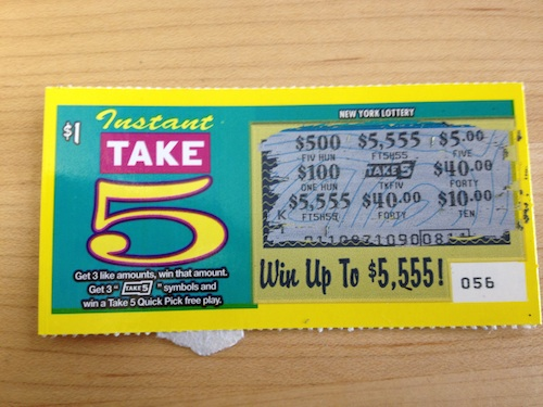 New york lottery take 5 instant win