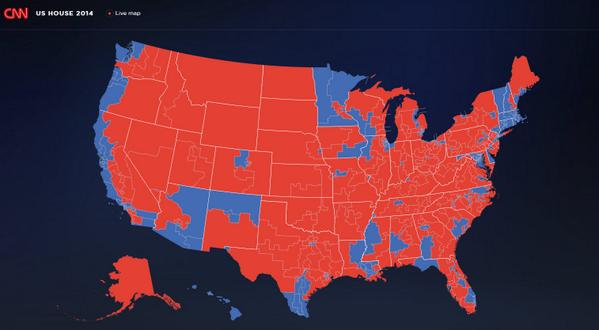 Election Resources On The Internet Federal Elections In The Does - 2014 us mid election red vs blue map