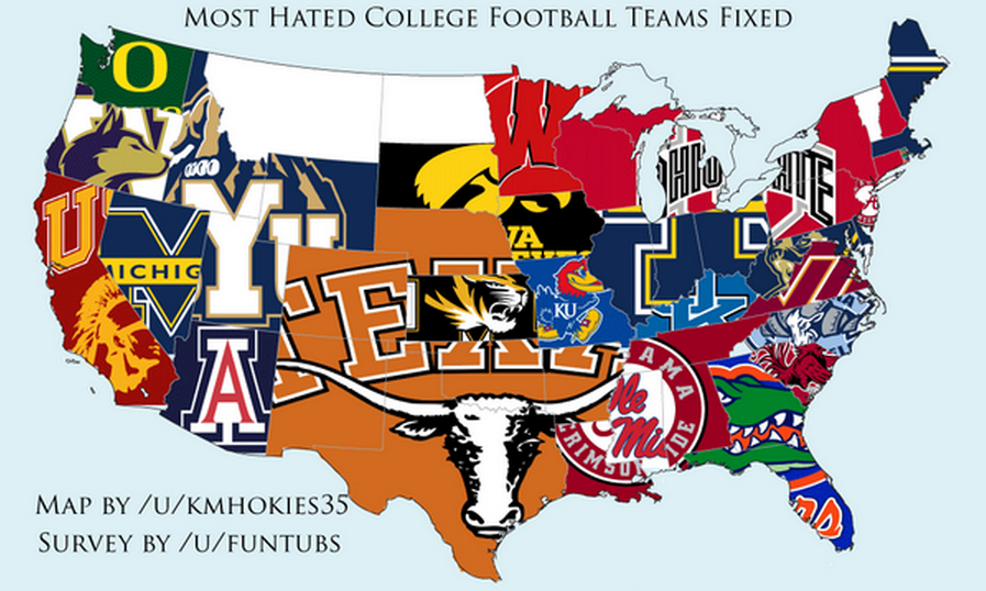 25 maps that explain college football  SBNationcom