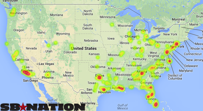 Maps That Explain College Football SBNationcom - United states map chicago