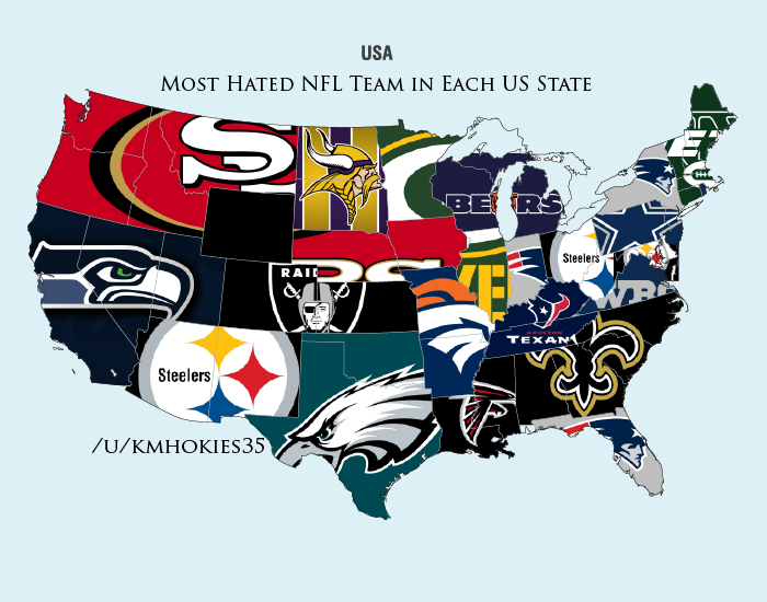 24 Maps That Explain The Nfl Sbnationcom - Us-map-nfl-teams