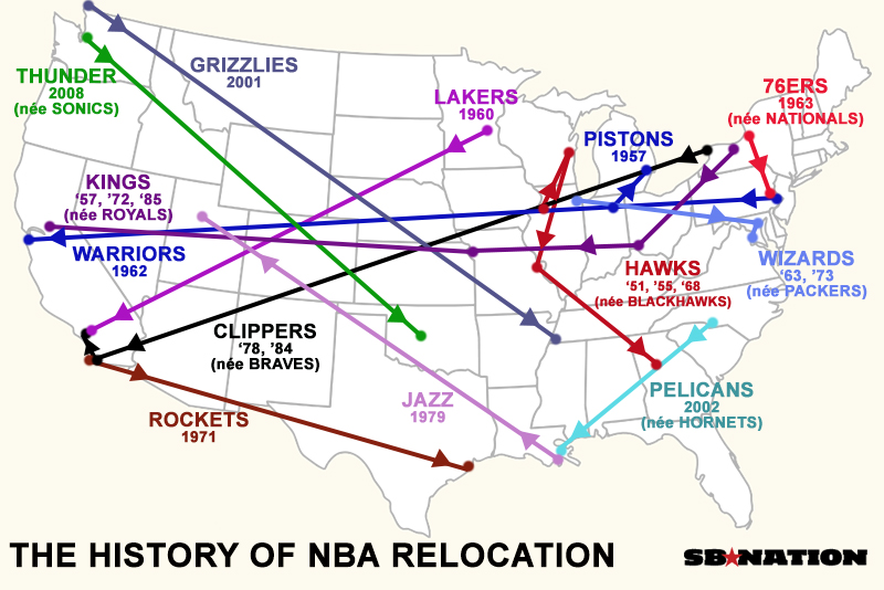 20 maps that explain the NBA - SBNation.com