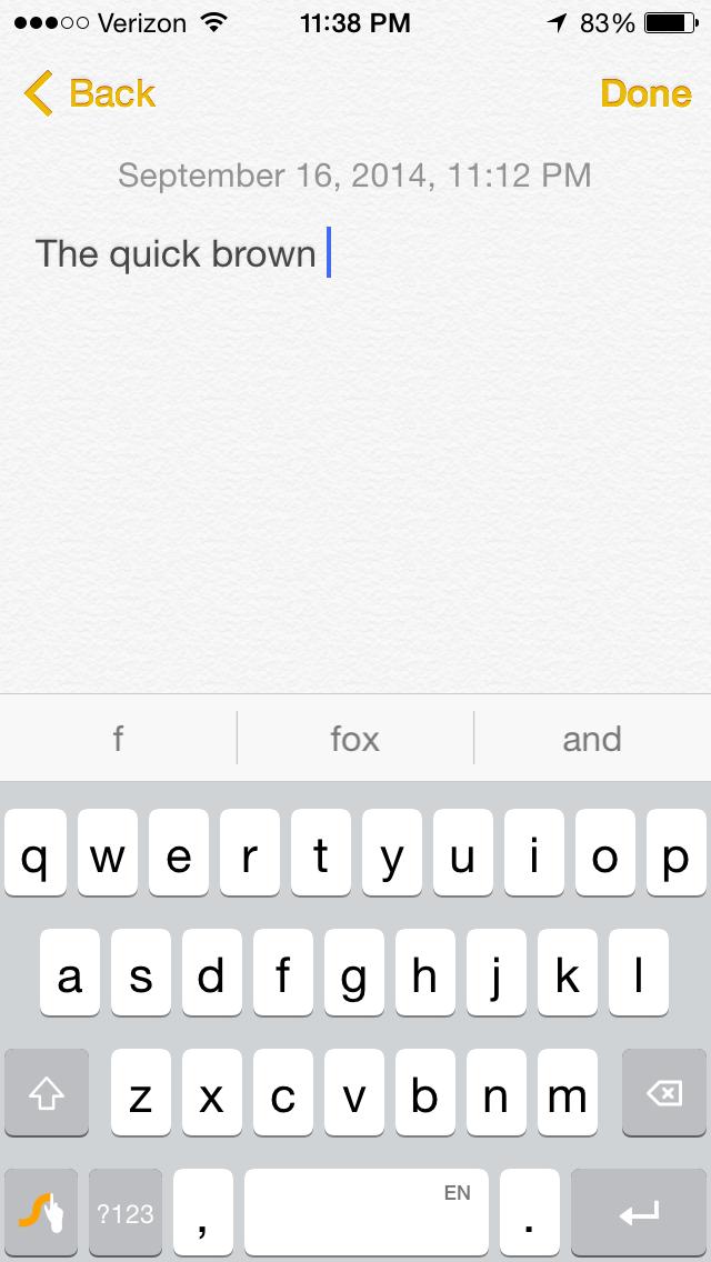 Swype iOS 8