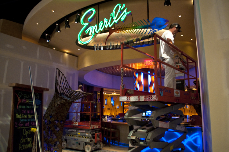 Emeril 39 s new orleans fish house still open during for Martins fish house