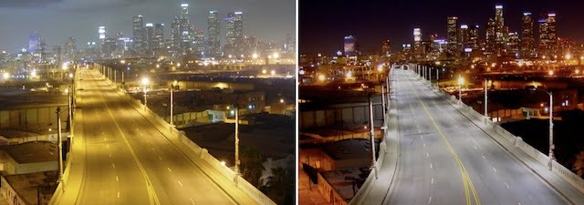 LA before and after LEDs