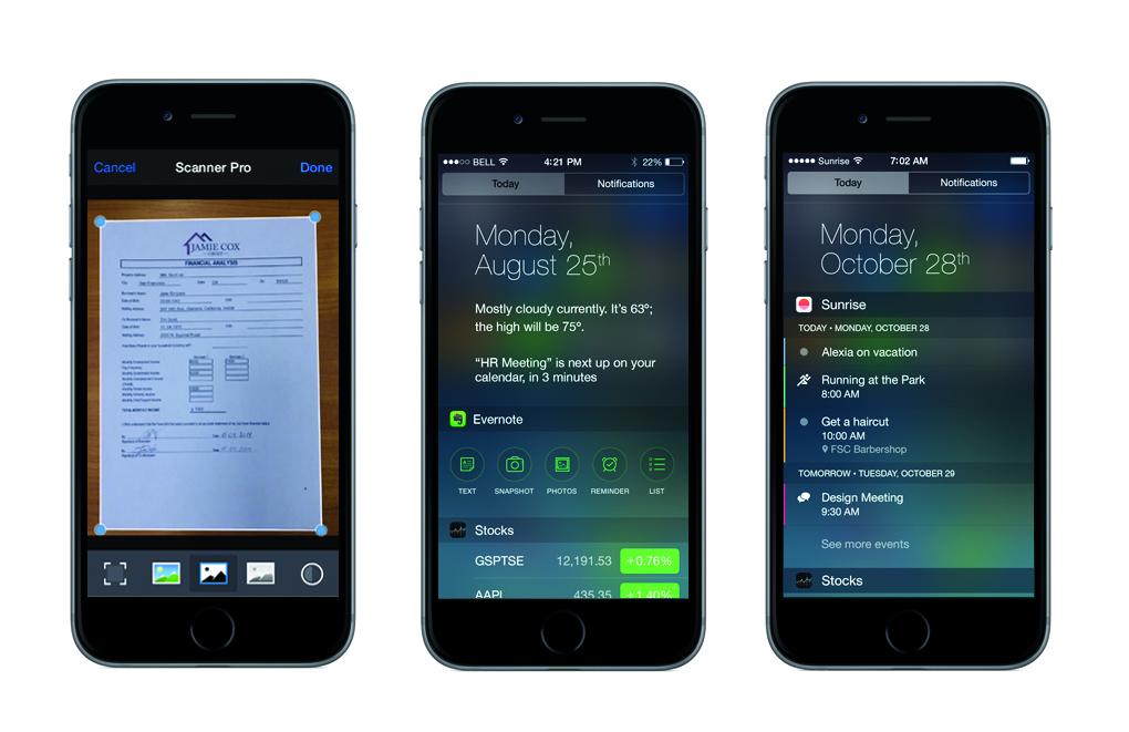 ios 8 iphones productive