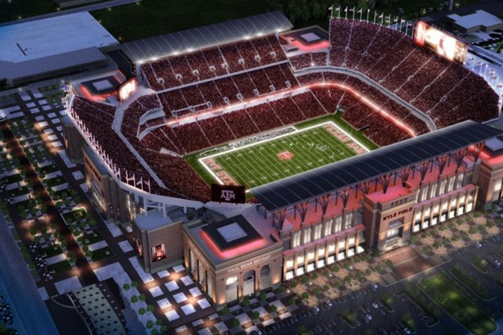 Kyle Field Expansion Texas A Amp M Stadium To Be Biggest In