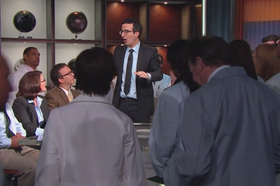 John Oliver shows how to debate climate deniers