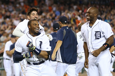 Tigers 5, A's 4: Rajai Davis provides Tigers with walk-off grand slam heroics