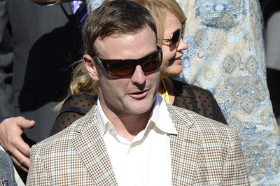 Wes Welker's in England today to watch his horse, Undrafted, race in the July Cup