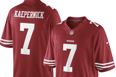Colin Kaepernick No. 3 in jersey sales since April 1