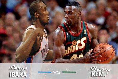 2012 Thunder vs 1996 Sonics Clash: Serge Ibaka vs. Shawn Kemp
