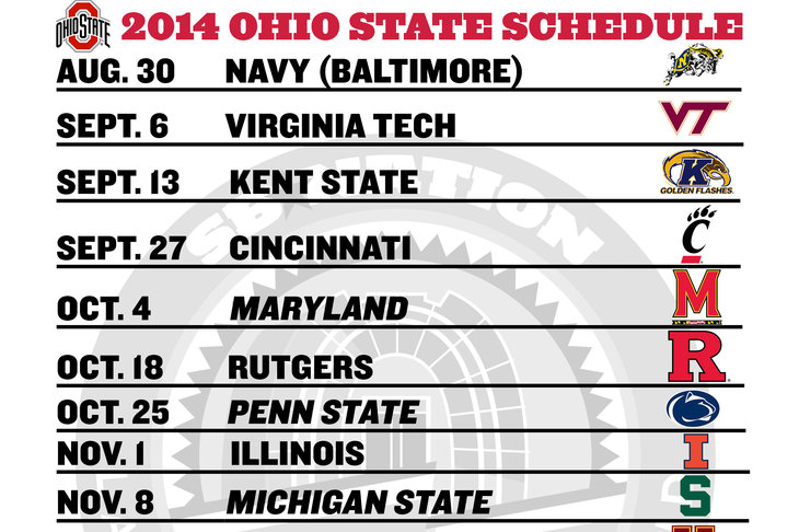 ... downloadable/printable 2014 Ohio State football schedule to make