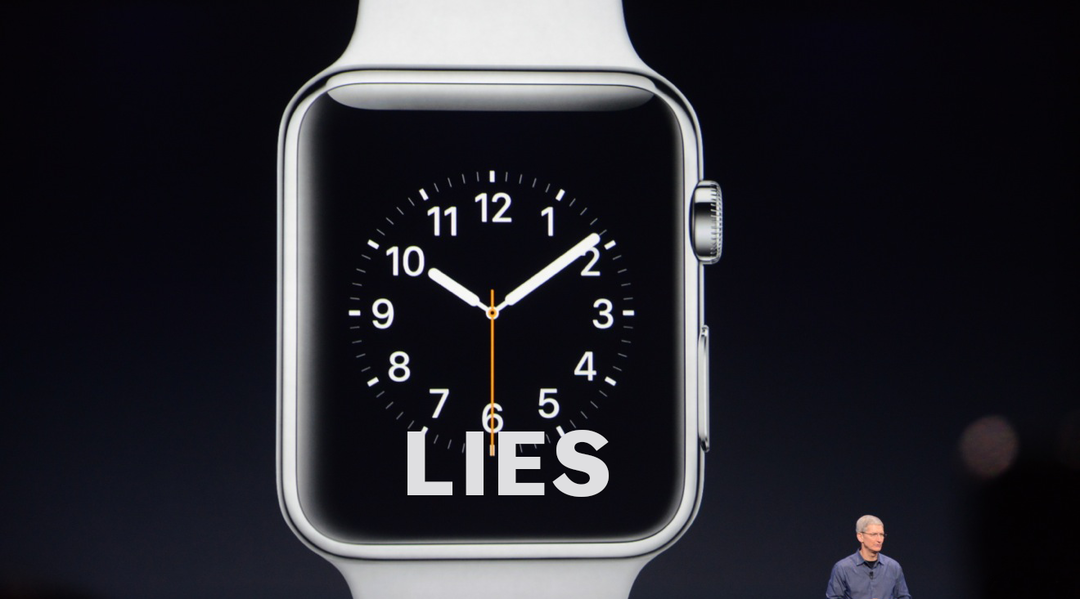 The big problem with the Apple Watch is that time is an illusion