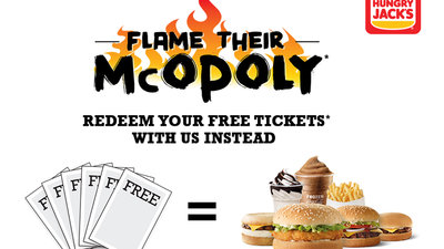 Burger King Australia Undermines McDonald's Monopoly Game