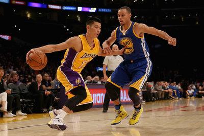 Warriors play Lakers in preseason again; blow them out again